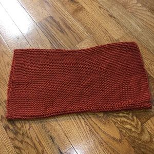 H&M fall rusted orange tube scarf